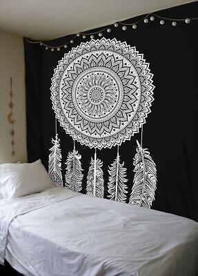 New Indian Black White Ombre Mandala Wall Decor Tapestry Queen Bedding Hippie
