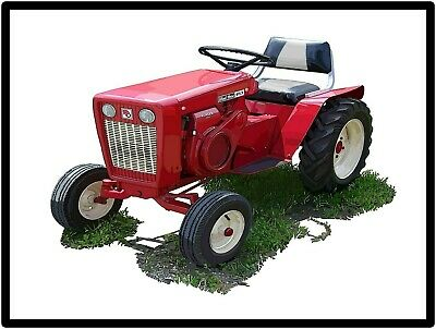 Economy Lawn Tractor Featured Power King Tractors New Metal Sign