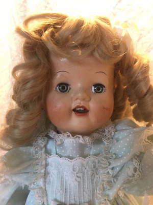 """Vintage 18"""" Hard Body IDEAL or Artisan Composition Doll Baby Doll Flirty Eyes"""