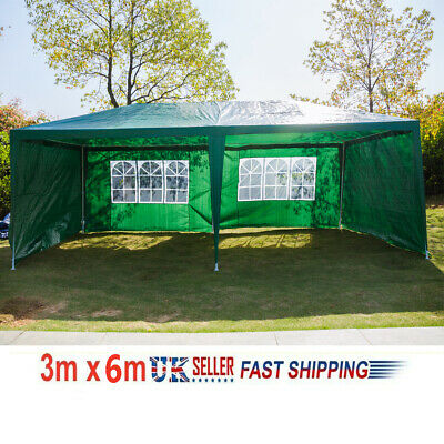 3×6m Waterproof Gazebo Marquee Canopy Party Tent Outdoor Garden Patio Heavy Duty