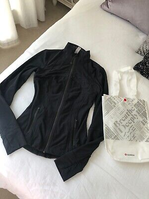 Lululemon Full Mesh Define Jacket Black Size 2 Uk 6-8 X-small WORN ONCE £118