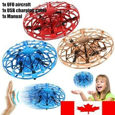360° Rotating Drones Mini Smart UFO Drone for Kids Flying Toys Hand Control NEW