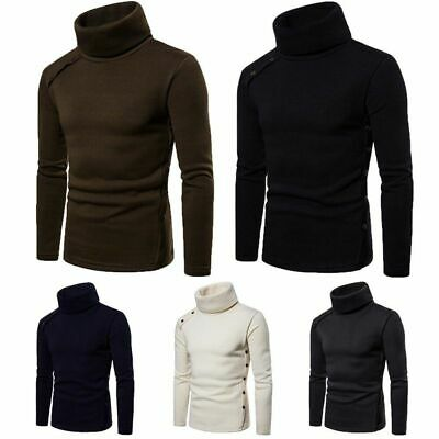 US Mens Thermal Turtle Neck Skivvy Turtleneck Sweaters Stretch Shirt Tops Shirts