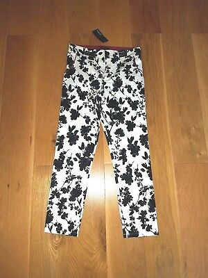 Bnwt Autograph Black & Ivory Floral Trousers Age 10-11 Years