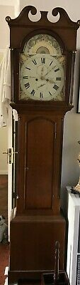 Antique Mahogany Longcase Clock by Walter Rutherford of Jedburgh, Scotland
