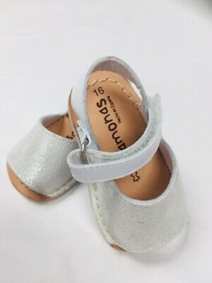 Pisamonas Sparkly Baby Menorcan Sandals Size 16/UK 0.5 Child - By Pisamonas
