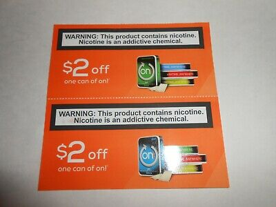 On! Nicotine Pouches Coupons Expire 12/31/2019