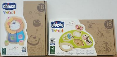 Set Puzzle Chicco Wood 18+ Leone + Safari