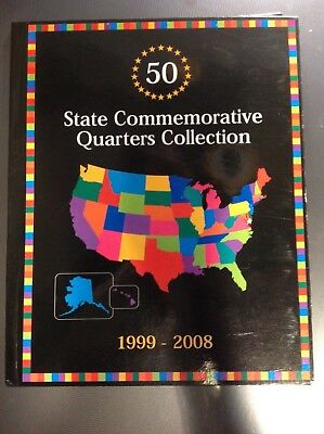3 COIN FOLDER- 50 Commemorative State Quarters Collection 1999-2008) nice item