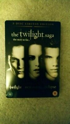 The Twilight Saga 3 Disc Limited Edition DVD New Moon Eclipse