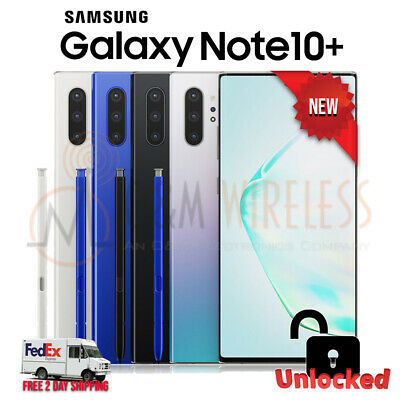 NEW Samsung Galaxy NOTE 10+ Plus (SM-N975U1, Factory Unlocked) AT&T T-Mobile VZN