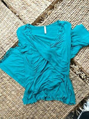 Mother Bee Maternity Pajamas Size L Dark Turquoise