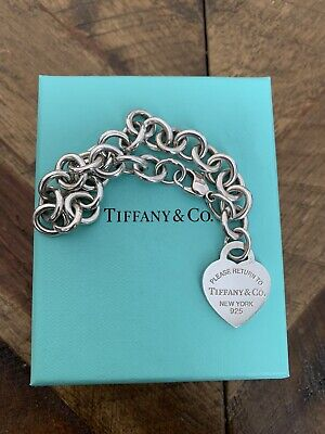 Tiffany & Co Return to Tiffany Sterling Silver Heart Tag  Bracelet Authentic