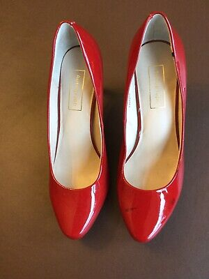Marks N Spencer /Autograph Red Patent Leather Court Shoes Size UK6.5