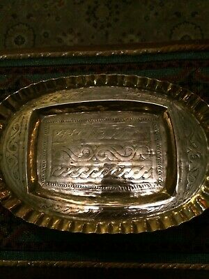 Arts & Crafts Brass Tray Celtic Design