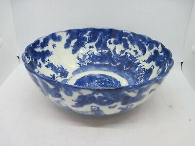 """Large 9 1/2"""" antique 19th cent. Chinese underglaze blue and white Bowl"""
