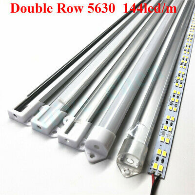 24V Double Row 5630 LED Bar Light U Shell Milky Clear Cover LED Strip Lighting
