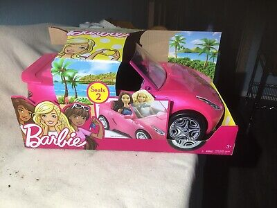 Barbie Convertible Dream Car, Hot Pink Doll Car Play Set, Girls Glam Toys, Gift