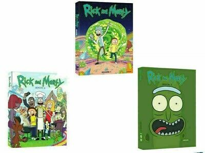 Rick and Morty: The Complete Series Season 1-3 (6-Disc DVD, Box Set)