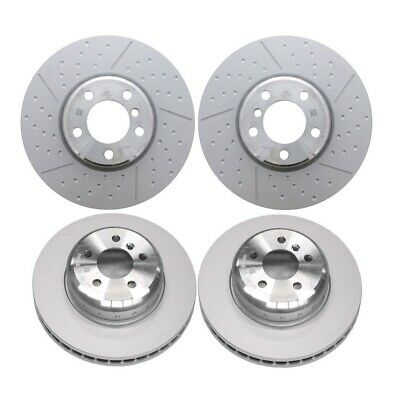 DIMPLD SLOTTED FRONT DISC BRAKE ROTORS+PADS for Holden Colorado RG 300mm 2012 on