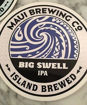 Maui Brewing Co Decal Craft Beer Brewing Big Swell IPA Sticker Island Brewed