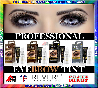 Henna Cream  Eyebrow  Black Dark Brown Grey 10 applications Kit Tint 15ml