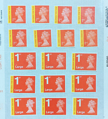 10 1st Signed For Unfranked Stamps off Paper WITH ORIGINAL Self-Adhesive GUM