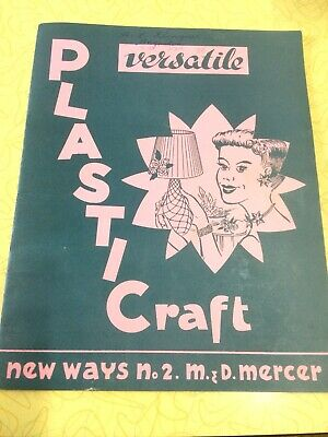 Vintage 50s 60s Craft Sewing Book Plastic Craft , Retro vintage booklet