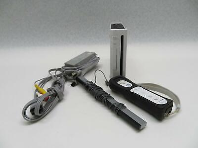 Nintendo Wii Video Game Console RVL-001 bundle w/Power Supply + Remote