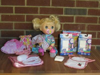 Baby Alive Doll Real Surprises Lot Accessories Diapers Cups English Spanish