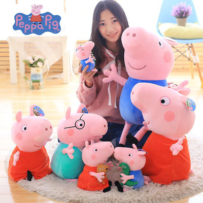 Cute 20/30/40/50cm Peppa pig George Family Plush Stuffed Doll Party For Children