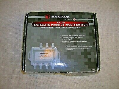 RadioShack Satellite Passive 3-In 4-Out Multi-Switch For DirecTV #16-985 NEW