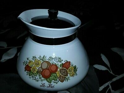 Corning Spice Of Life 6 Cup Tea Pot With Lid