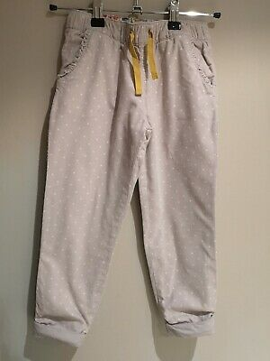 Mini Boden Girls Grey Cord Trousers Age 4-5 Years