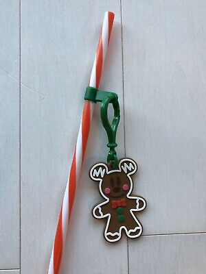 Disney Mickey's Very Merry Christmas Party Mickey Mouse Gingerbread Straw
