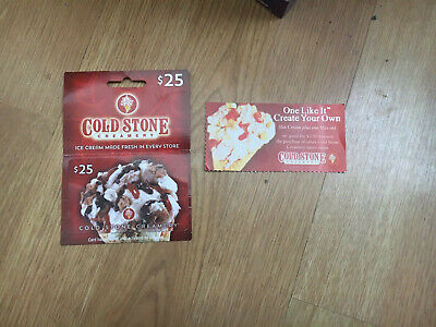 Cold Stone Creamery $25.00 Gift Card & $3.50 Off A Purchase Cold Stone Ice Cream