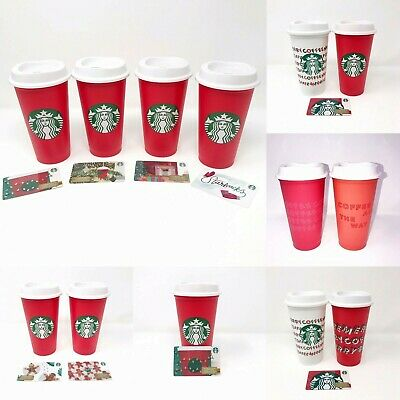 Starbucks Holiday Reusable Cups Hot Cups 16 oz Christmas You Choose Gift New