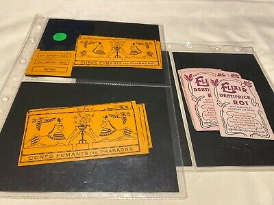 Antique/Vintage French Labels for Elixir and Cone Fumantes (Qty 25++)