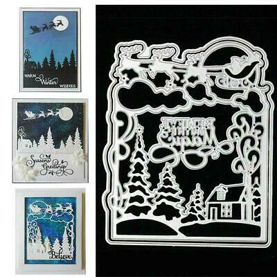 Xmas Metal Cutting Dies DIY Craft Stencil Paper Card Decor Cuts Scrapbook D X6O8