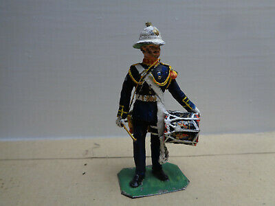Stadden, British Royal Marine drummer painted lead 54mm soldier, JL