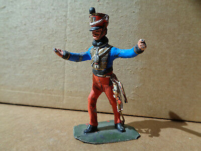 Stadden, Napoleonic Russian Hussar officer studio painted lead 54mm figure, TD