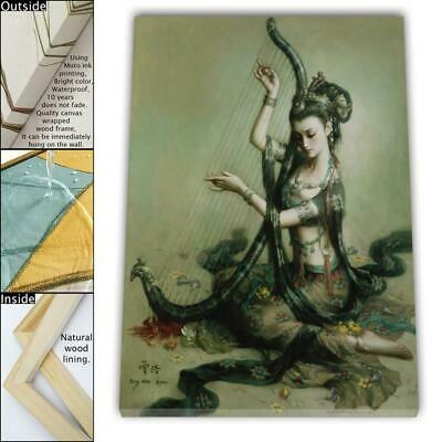 """16""""x20"""" Abstract zeng hao god HD Canvas print Framed Home Decor Wall art picture"""