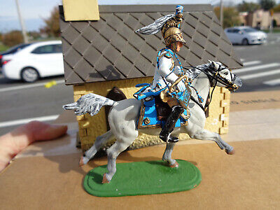 Stadden Napoleonic French Dragoon bugler, Lead cavalry Soldiers, 54mm, JL