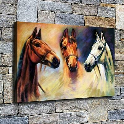 "12""x18"" horses High Definition Canvas Print Home Decoration Studio Wall Poster"