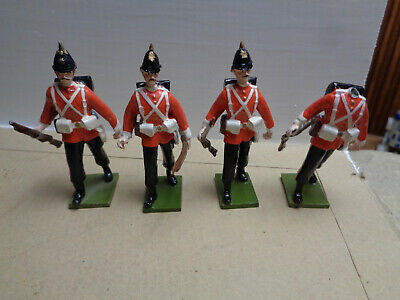 STEADFAST Lead Toy Soldiers British infantry, lot of 4,54mm  ww