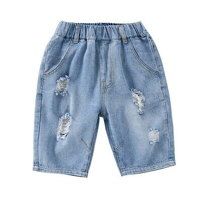 Fashion Classic Casual Ripped Shorts Jeans For Boys Children Hole Jean Kid Denim