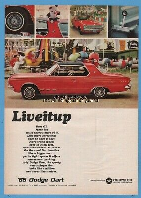 1965 Dodge Dart red coupe county fair carnival Chrysler MOPAR car ad
