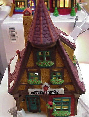 KUKUCK UHREN CUCKOO CLOCK SHOP #56189 Dept 56 ALPINE VILLAGE