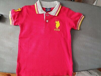 Boys US POLO ASSN Red Short Sleeve Polo Top - Size 2