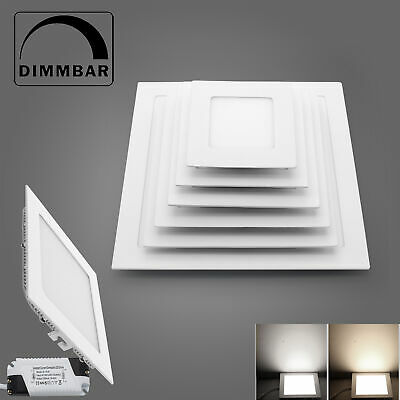 LED Panel Light Square Recessed Dimmable Ceiling Spotlight Lamp